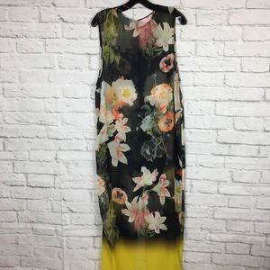 Ted Baker London Floral Maxi Dress Swim Cover Up